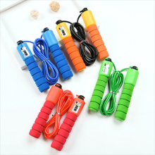 Professional Sponge Handle Meter Counting Skipping Rope