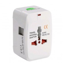 International Travel Adapter with USB Charger